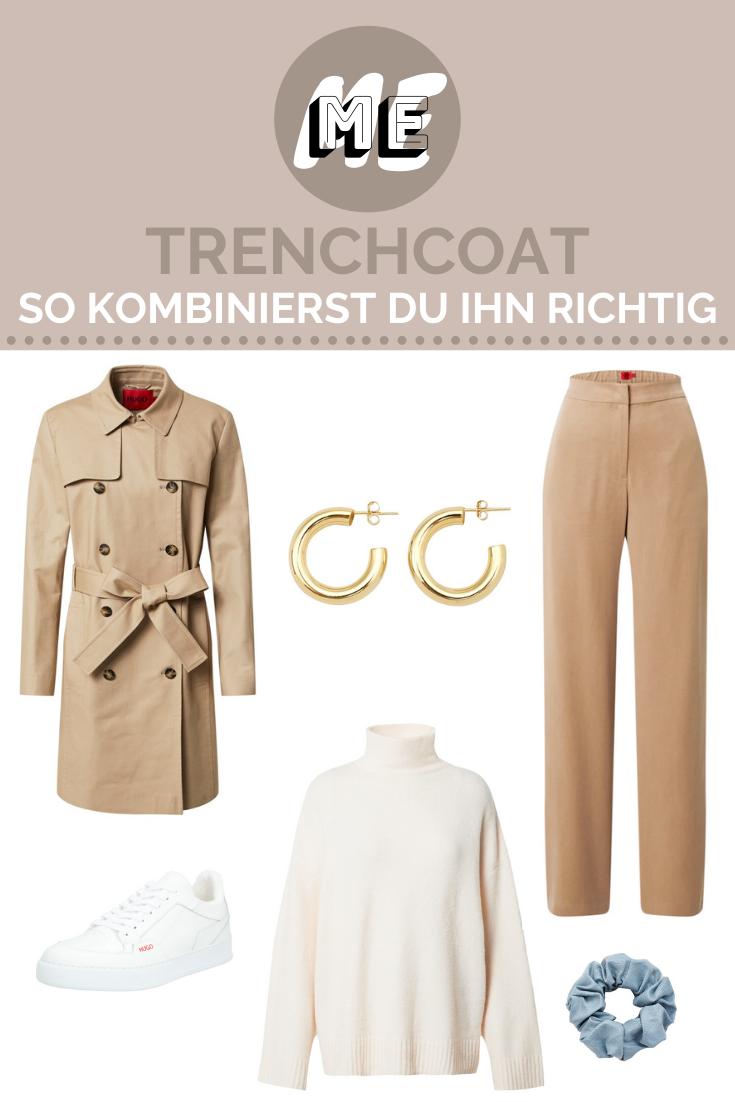 Outfit der Woche Collage mit einem Trenchcoat