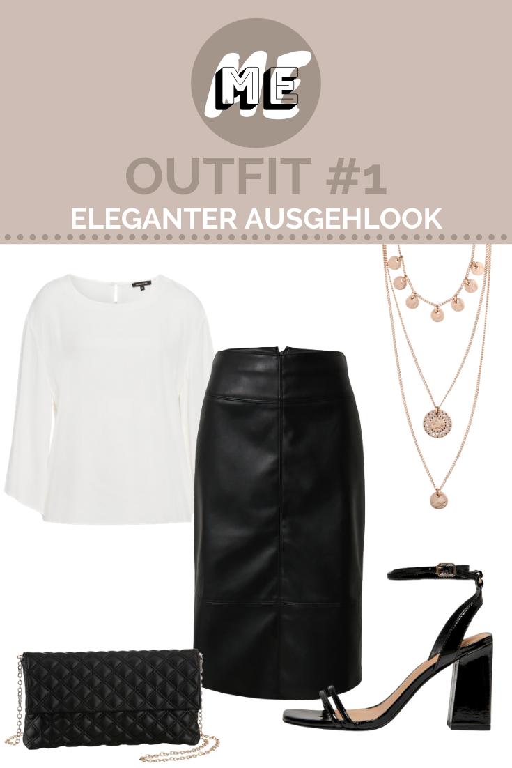 Collage für Damen Sandalen mit schwarzen Pullover, Keilsandalen, Handtasche, Sonnenbrille und einem Plisseerock mit Animal-Print.